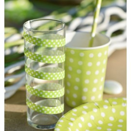 Bolduc vert anis à pois 10 mm x 50 M