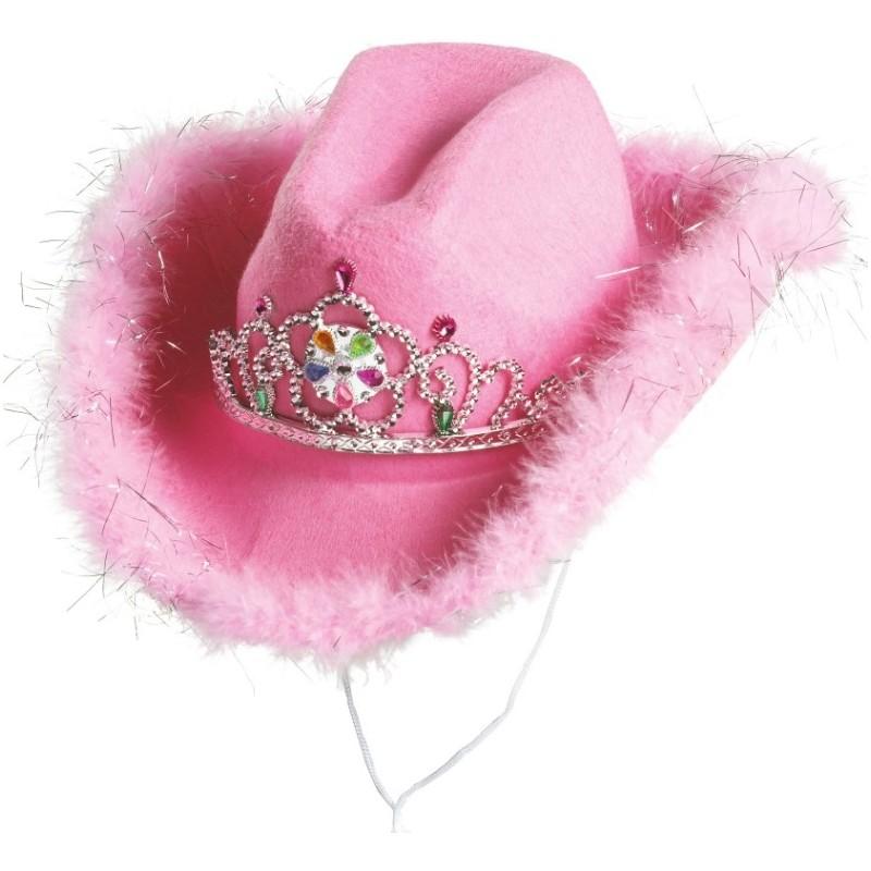 chapeau cowboy rose femme achat chapeaux cowboy carnaval. Black Bedroom Furniture Sets. Home Design Ideas