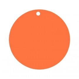 Etiquettes carton orange rondes les 10