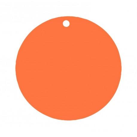 Etiquette carton orange ronde les 10