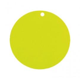Etiquette carton vert anis ronde les 10