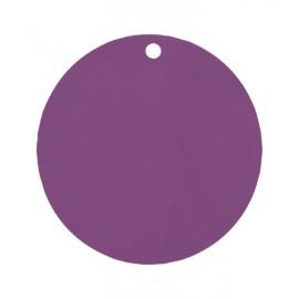 Etiquettes carton violet rondes les 10