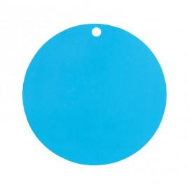 Etiquette carton turquoise ronde les 10