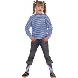 Déguisement T-Shirt rayé bleu blanc enfant