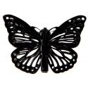 Papillons métal noir sur pince les 4