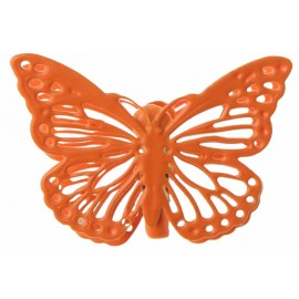 Papillon métal noir sur pince les 4