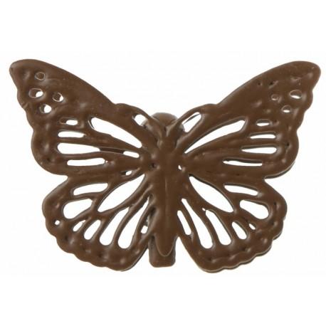 Papillon métal chocolat sur pince les 4