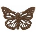 Papillons métal chocolat sur pince les 4