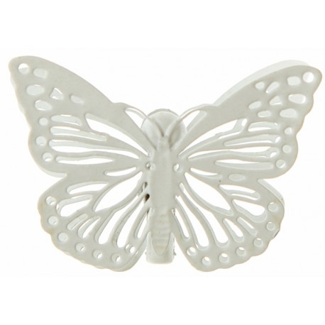 Papillon métal ivoire sur pince les 4