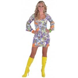 Déguisement hippie chic femme 70's luxe