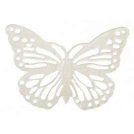Papillon métal ivoire les 6