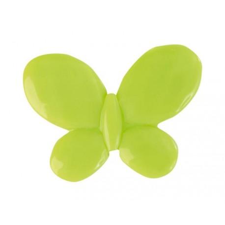 Perle papillon vert anis les 12