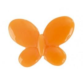 Perle papillon orange les 12