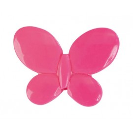 Perle papillon fuchsia les 12