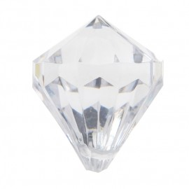 Perle pampille diamant transparent les 6