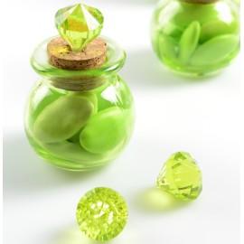 Perle pampille diamant vert les 6