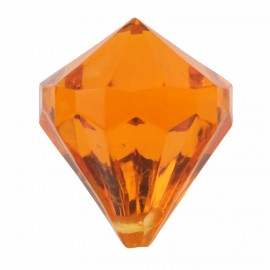 Perles pampille diamant orange les 6