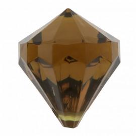 Perle pampille diamant chocolat les 6