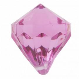 Perle pampille diamant fuchsia les 6