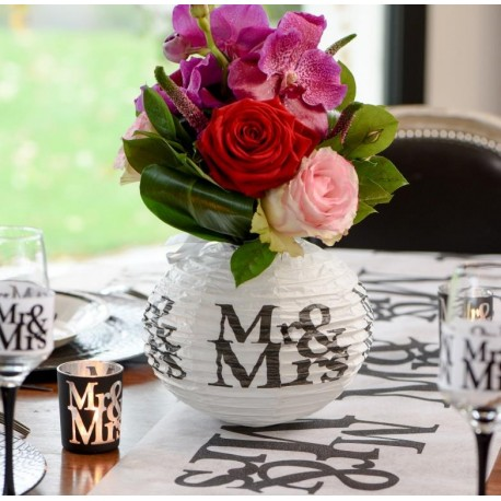 lanterne boule papier mariage mr mrs les 2 boule chinoise mariage. Black Bedroom Furniture Sets. Home Design Ideas