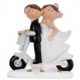 Figurine mariés en scooter
