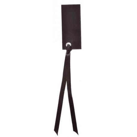 Etiquette rectangle noir avec ruban les 12