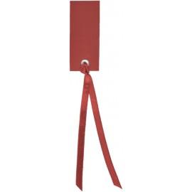 Etiquette rectangle bordeaux avec ruban les 12