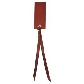 Etiquette rectangle chocolat avec ruban les 12