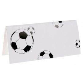 Marque-place football carton blanc les 10