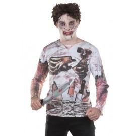 Déguisement T-Shirt zombie adulte mixte