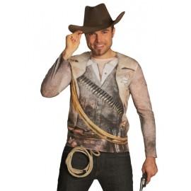 Déguisement T-Shirt cowboy adulte mixte