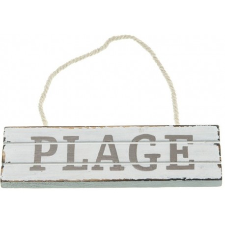 Pancarte plage en bois