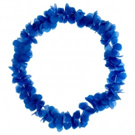 Collier hawaïen bleu