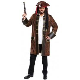Déguisement manteau pirate homme