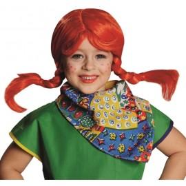 Perruque fifi rouge avec tresses fille