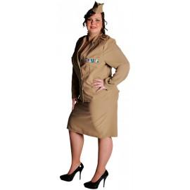 Déguisement militaire 1940's femme grande taille luxe