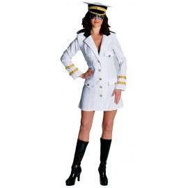 Déguisement officier blanc femme luxe