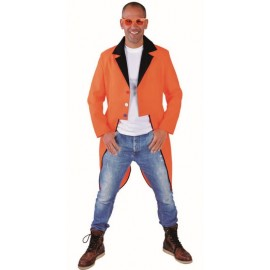Déguisement queue de pie fluo orange homme luxe