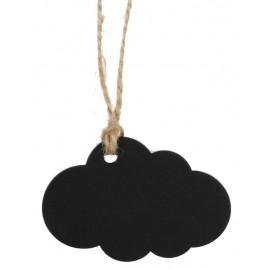 Etiquette nuage ardoise en bois avec cordon les 6