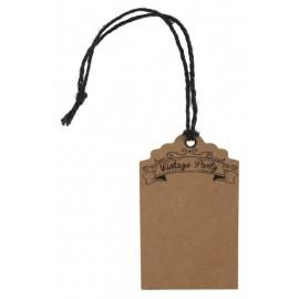 Etiquette kraft vintage avec cordon les 12