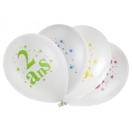 Ballons anniversaire 2 ans 23 cm les 8