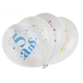 Ballons anniversaire 5 ans 23 cm les 8