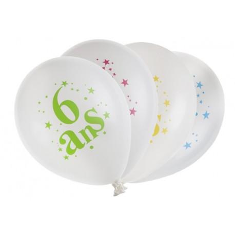 Ballons anniversaire 6 ans 23 cm les 8