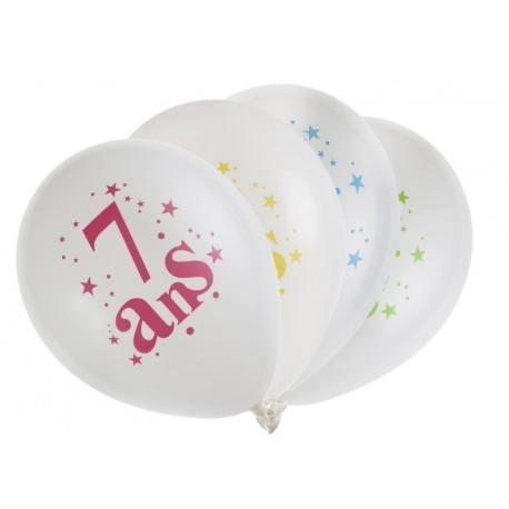 Ballons anniversaire 7 ans 23 cm les 8