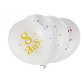 Ballons anniversaire 8 ans 23 cm les 8