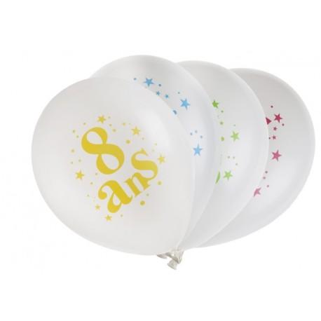 Ballon anniversaire 8 ans 23 cm les 8