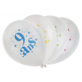 Ballon anniversaire 9 ans 23 cm les 8