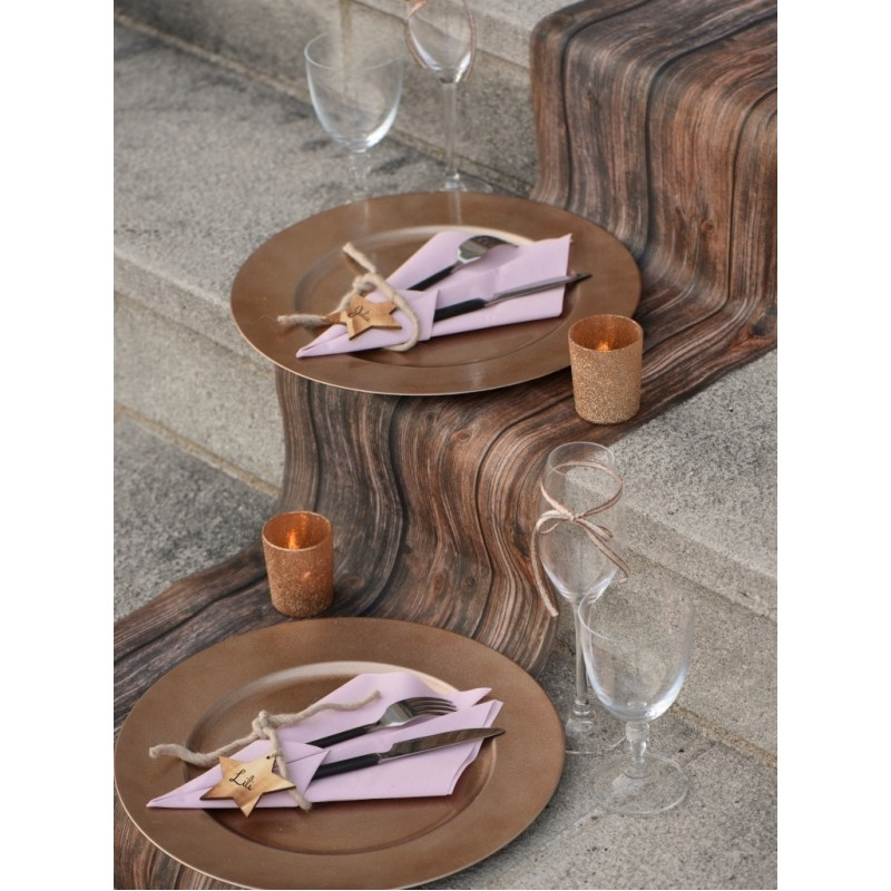Chemin de table bois intiss 5 m chemins de table art de - Set de table intisse ...
