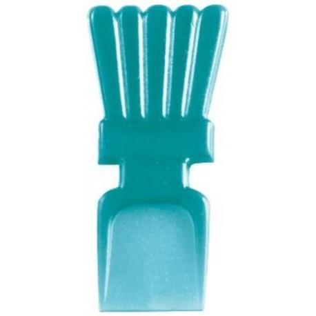 Mini Cuilleres Turquoise Translucides