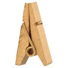 Pince pyramide or en bois les 12